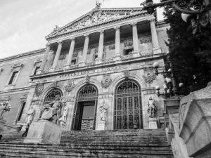 entrada de la biblioteca nacional