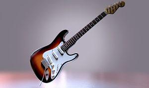 Imagen de una guitarra electrónica