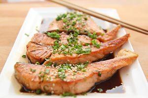 Imagen de un plato de salmón