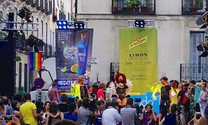 Imagen de un acto en Chueca