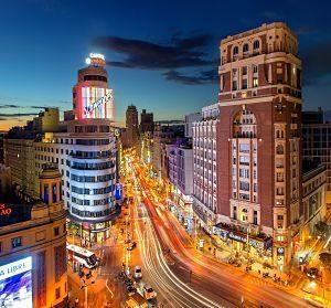Imagen de la Gran Vía madrileña