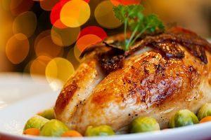Imagen de un plato de Navidad