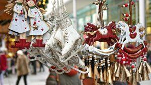 Imagen de un mercado de navidad