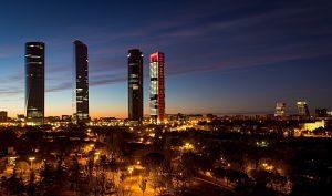 Imagen del sky line de Madrid