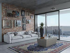 Imagen del salón de un apartamento