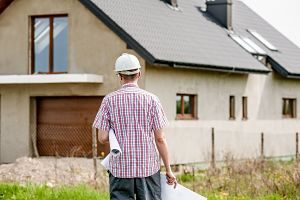 Imagen de una vivienda en construcción