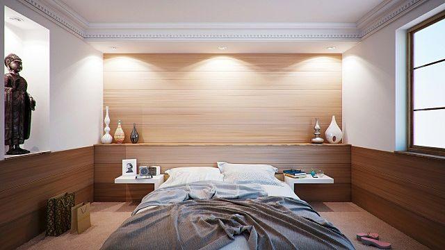 Imagen de una habitación con cama japonesa