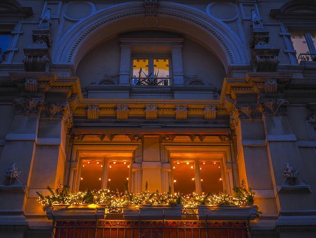 decoracion balcones navidad