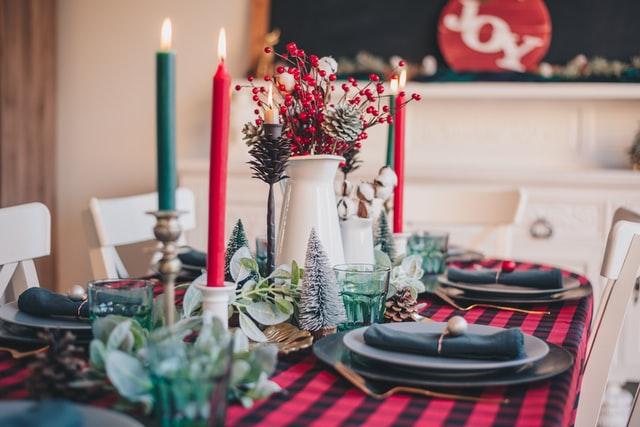 decoracion centro de mesa navidad