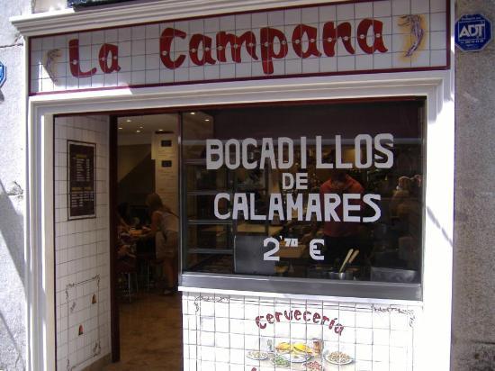 D nde comer bocadillo de calamares en madrid shmadrid for Restaurante la campana barcelona