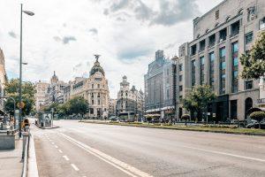 Vista de una de las avenidas de Madrid